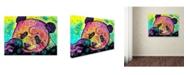 "Trademark Global Dean Russo 'Psychedelic Panda' Canvas Art - 32"" x 24"" x 2"""