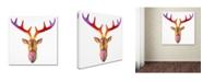 """Trademark Global Dean Russo 'Deer Bust' Canvas Art - 24"""" x 24"""" x 2"""""""