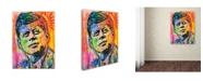 "Trademark Global Dean Russo 'JFK' Canvas Art - 47"" x 35"" x 2"""