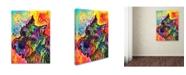 "Trademark Global Dean Russo 'Freddy the Schnauzer' Canvas Art - 19"" x 14"" x 2"""