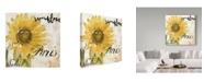 "Trademark Global Color Bakery 'Paris Songs I' Canvas Art - 35"" x 35"" x 2"""