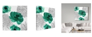 """Trademark Global Color Bakery 'Cinnabar II' Canvas Art - 14"""" x 14"""" x 2"""""""