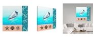 "Trademark Global Irina Trzaskos Studio 'Nautical Design IV' Canvas Art - 35"" x 35"" x 2"""