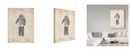 "Trademark Global Cole Borders 'Vintage Scuba Gear' Canvas Art - 19"" x 14"" x 2"""