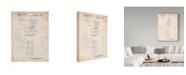 "Trademark Global Cole Borders 'Vintage Childrens Building Block' Canvas Art - 19"" x 14"" x 2"""