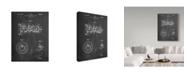 "Trademark Innovations Cole Borders 'Combustion Engine Crank Shaft' Canvas Art - 32"" x 24"" x 2"""