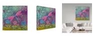 "Trademark Global Elizabeth Claire 'Pink Dragonfly' Canvas Art - 14"" x 14"" x 2"""