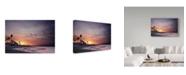 "Trademark Global David Keochkerian 'Atomic Sunset' Canvas Art - 47"" x 2"" x 30"""