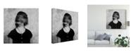 "Trademark Global Dalibor Davidovic 'Shadows Portrait' Canvas Art - 24"" x 2"" x 24"""