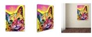 """Trademark Global Dean Russo 'Tilt Cat' Canvas Art - 26"""" x 32"""" x 2"""""""