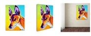 """Trademark Global DawgArt 'Pharoah Hound Linus' Canvas Art - 35"""" x 47"""" x 2"""""""