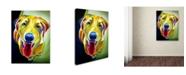"Trademark Global DawgArt 'Spencer' Canvas Art - 24"" x 32"" x 2"""