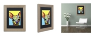 """Trademark Global Dean Russo 'Chihuahua' Matted Framed Art - 14"""" x 11"""" x 0.5"""""""