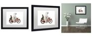 "Trademark Global J Hovenstine Studios 'Bringing Home Dinner #1' Matted Framed Art - 16"" x 20"" x 0.5"""