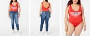 Disney Trendy Plus Size Mickey Mouse Graphic-Print Bodysuit