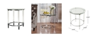 Noble House Orianna Acrylic and Tempered Glass Circular Table