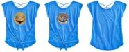 Beautees Big Girls Reversible Sequin Tie-Front Top