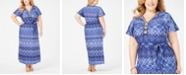 NY Collection Plus Size Embellished Maxi Dress