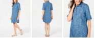 Karen Scott Printed Cotton Shirtdress, Created for Macy's