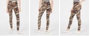 Planet Gold Juniors' Camo-Printed Brushed Jersey Leggings