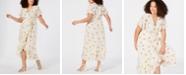 RACHEL Rachel Roy Trendy Plus Size Tie-Waist High-Low Maxi Dress