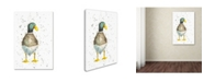 "Trademark Global Michelle Campbell 'Duck 2' Canvas Art - 19"" x 12"" x 2"""