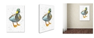 "Trademark Global Michelle Campbell 'Duck 7' Canvas Art - 24"" x 16"" x 2"""