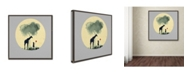 "Trademark Global Tammy Kushnir 'The Meeting with Balloons' Canvas Art - 14"" x 14"" x 2"""