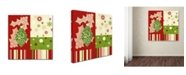 "Trademark Global Tina Lavoie 'Beautiful Christmas I' Canvas Art - 14"" x 14"" x 2"""