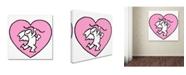"Trademark Global Miguel Balbas 'Cupid 1' Canvas Art - 35"" x 35"" x 2"""