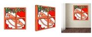 "Trademark Global Miguel Balbas 'Happy Xmas' Canvas Art - 35"" x 35"" x 2"""