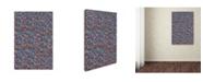 "Trademark Global Miguel Balbas 'Abstract 3815' Canvas Art - 19"" x 12"" x 2"""
