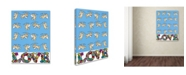 "Trademark Global Miguel Balbas 'Cupids Love' Canvas Art - 32"" x 24"" x 2"""