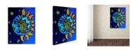 "Trademark Global Prisarts 'La Luna El Sol Estrellado' Canvas Art - 47"" x 35"" x 2"""