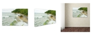 "Trademark Global Tom Kelly 'Lakes 12' Canvas Art - 47"" x 30"" x 2"""