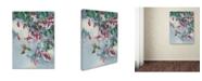 """Trademark Global Wanda Mumm 'Hummingbird And Honeysuckle' Canvas Art - 47"""" x 35"""" x 2"""""""