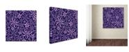 "Trademark Global Yachal Design 'Dancing Petals 100b' Canvas Art - 18"" x 18"" x 2"""