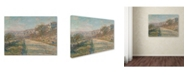 "Trademark Global Monet 'Road Of La Rocheguyon' Canvas Art - 24"" x 18"" x 2"""