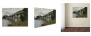 "Trademark Global Monet 'The Railroad Bridge In Argenteuil' Canvas Art - 47"" x 35"" x 2"""