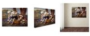 "Trademark Global Nicolas Poussin 'Rinaldo And Armida' Canvas Art - 19"" x 14"" x 2"""
