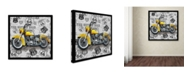 "Trademark Global Jean Plout 'Vintage Motorcycles On Route 66 7' Canvas Art - 35"" x 35"" x 2"""