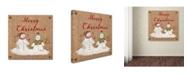 "Trademark Global Jean Plout 'Christmas On Burlap 1' Canvas Art - 18"" x 18"" x 2"""