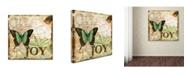 """Trademark Global Jean Plout 'Butterflies 4' Canvas Art - 18"""" x 18"""" x 2"""""""