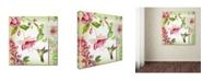"Trademark Global Jean Plout 'Garden Party 2' Canvas Art - 14"" x 14"" x 2"""