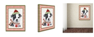 "Trademark Global Jean Plout 'Christmas Song Dogs 7' Canvas Art - 47"" x 35"" x 2"""