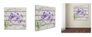 "Trademark Global Jean Plout 'Purple Orchids' Canvas Art - 35"" x 35"" x 2"""