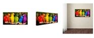 "Trademark Global Mike Jones Photo 'Rainbow Parrots' Canvas Art - 24"" x 12"" x 2"""