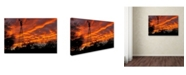 "Trademark Global Mike Jones Photo 'Superior Windmill Sunset' Canvas Art - 47"" x 30"" x 2"""