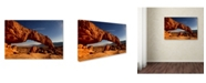 "Trademark Global Mike Jones Photo 'Utah Sunset Arch' Canvas Art - 19"" x 12"" x 2"""