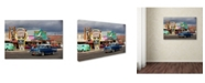 "Trademark Global Mike Jones Photo 'Rt 66 Fun Run Seligman' Canvas Art - 32"" x 22"" x 2"""
